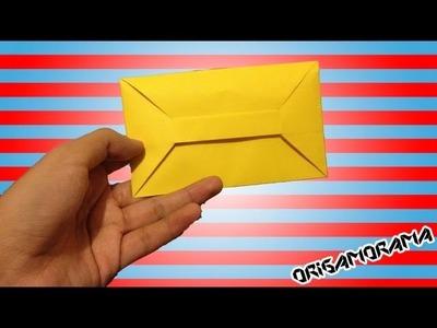 Cómo hacer un SOBRE para cartas SIN pegamento (#cartasplegables)