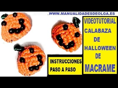 COMO HACER UNA CALABAZA DE HALLOWEEN DE MACRAME CON HILO. TUTORIAL DIY. PUMPKIN