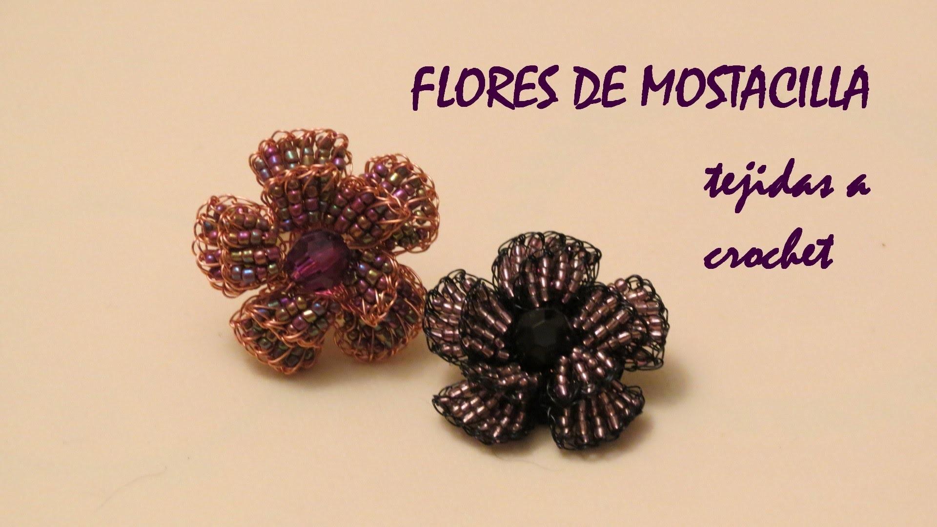 Cómo hacer una flor de mostacillas tejida a crochet (Flower)