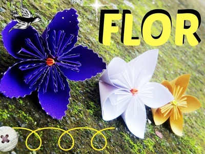Como hacer una FLOR  de papel | DIY | Papiroflexia | flor | Origami