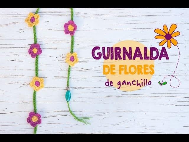 Cómo hacer una guirnalda de flores en ganchillo | Crochet flower garland tutorial