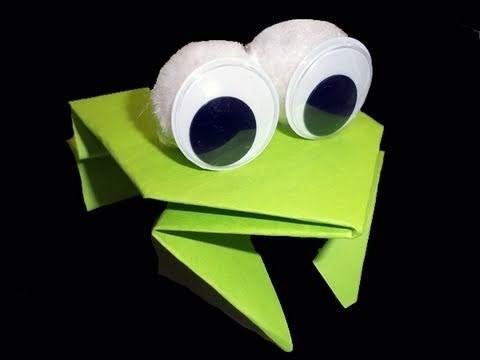 Cómo hacer una rana saltarina origami