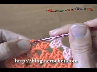 Como se puede trabajar el patchwork en forma horizontal a crochet parte 1
