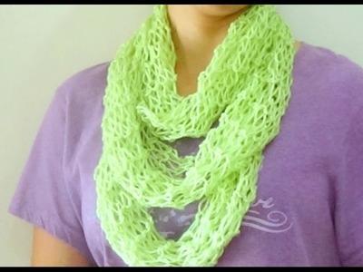 Cómo Tejer Bufanda Mágica de Verano-How to Knit Summer Scarf 2 Agujas (227)
