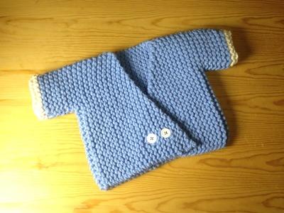 Cómo tejer con telar un jersey kimono para bebé (Tutorial DIY)