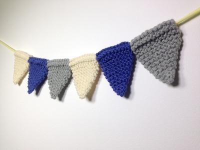 Cómo tejer con telar una guirnalda de banderines (Tutorial DIY)