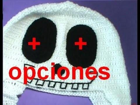 Como tejer gorro diseño calavera #ganchillo #crochet #halloween #diseño unisex