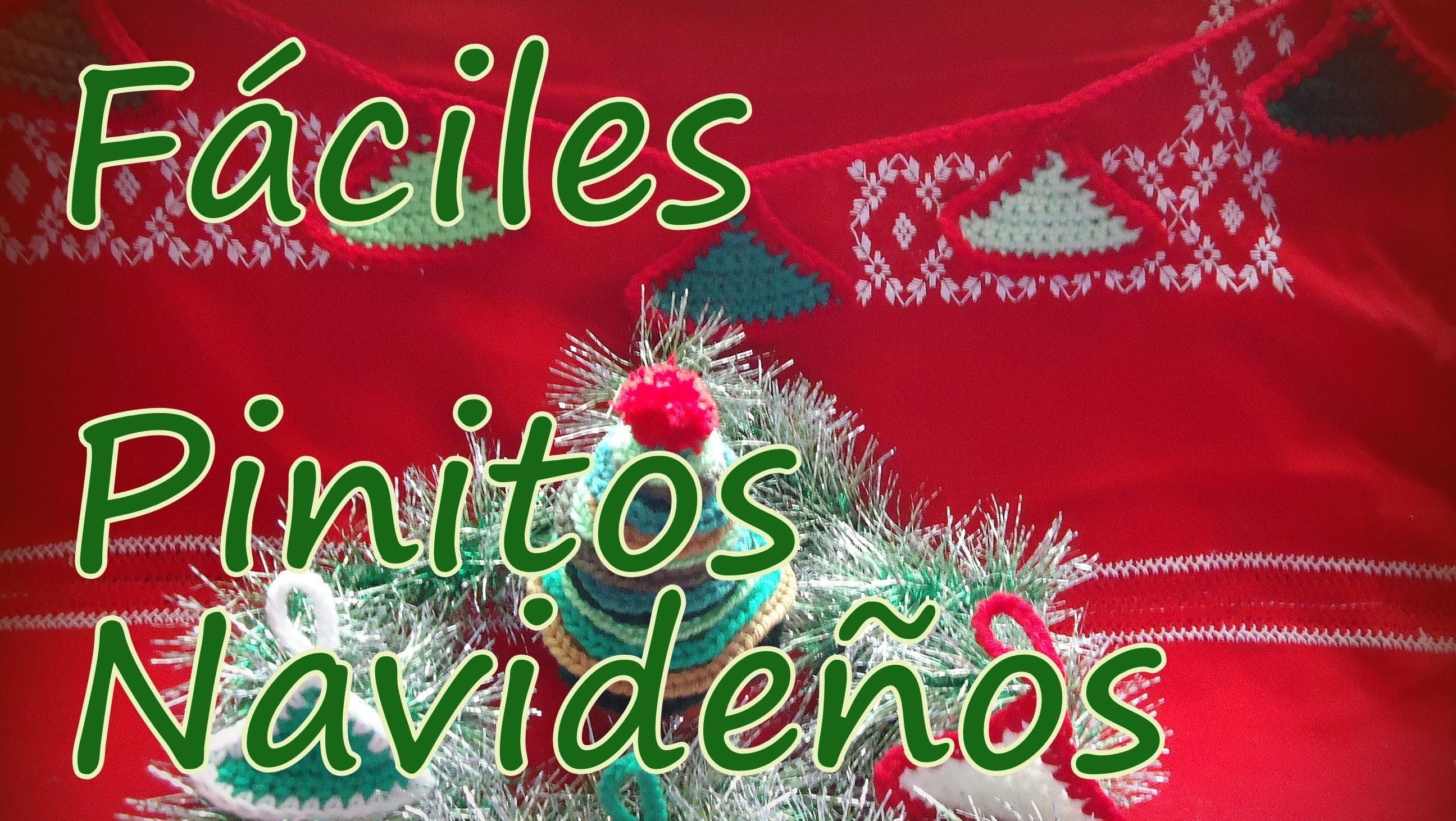 Cómo tejer pinitos navideños al crochet (christmas tree) -tejido para zurdos-