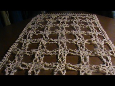 Cómo tejer un centro de mesa a crochet o gancho : ) 1a. Parte de 3.