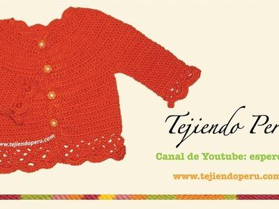 Cómo tejer una chaqueta con bordes calados para niñas en crochet
