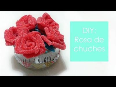 Con a de aileoN: Rosa con dulces. Sweet DIY rose