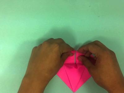 Corazón de origami  - Adornos de papel