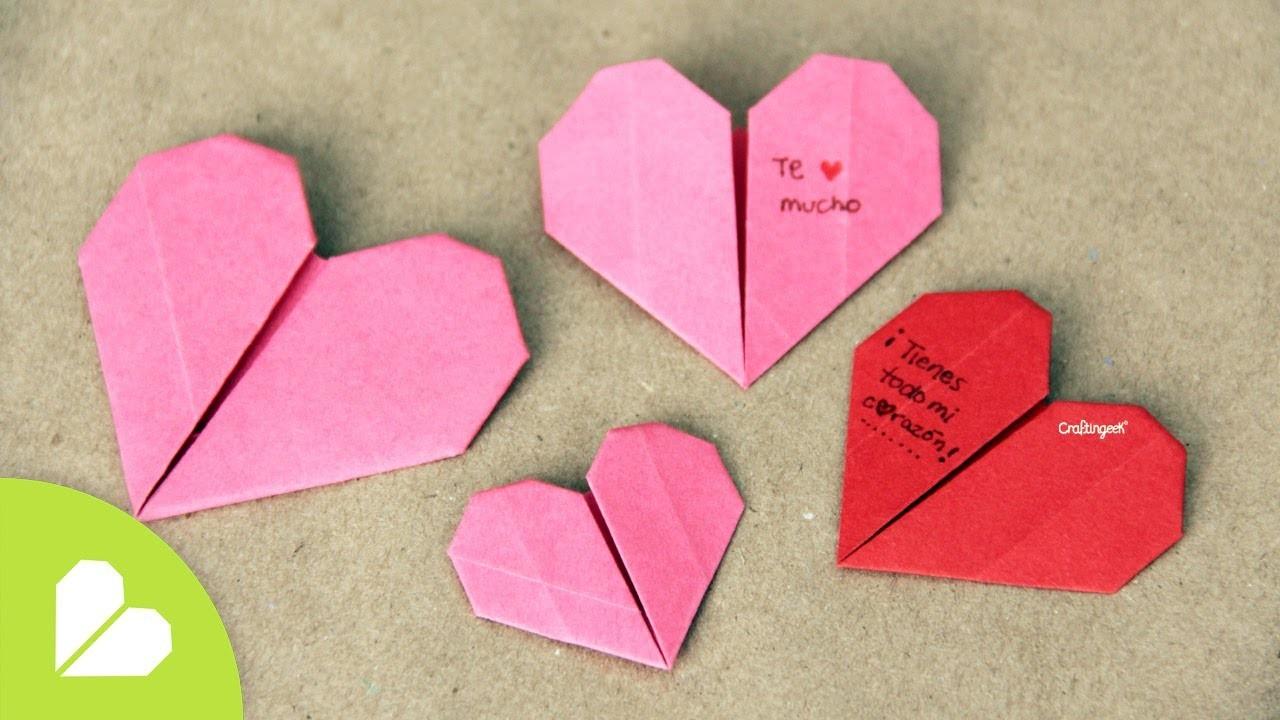 Corazones de Origami para San Valentin .  Origami Heart