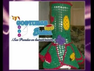 COSTURAS ELISA - VESTIDOS DE LICUADORAS Y FRUTAS EN CROCHET.wmv