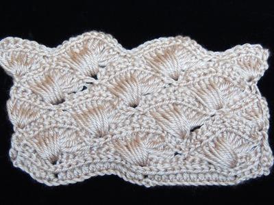 Crochet : Abanico Cruzado. Parte 2 de 2