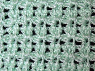 Crochet : Punto Lazos en Relieve