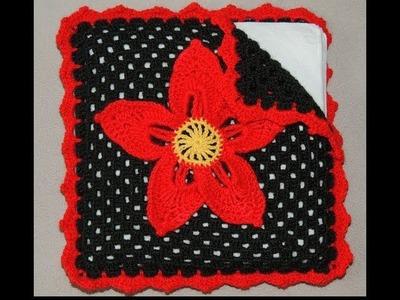 Crochet : Servilletero Navideño.  Parte 2 de 2