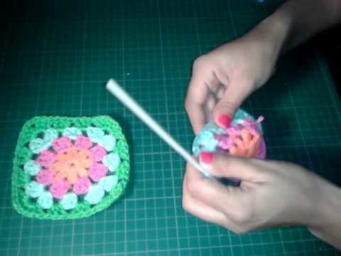 Cuadrado a crochet o ganchillo