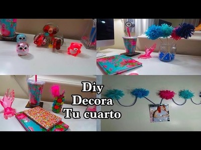 DIY  4 IDEAS  DECORA TU CUARTO  reciclado