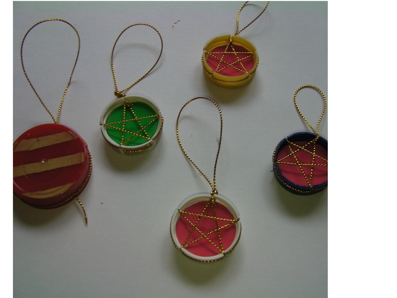 """""""DIY ** Adornos de navidad reciclados """" recycled Christmas ornaments **"""