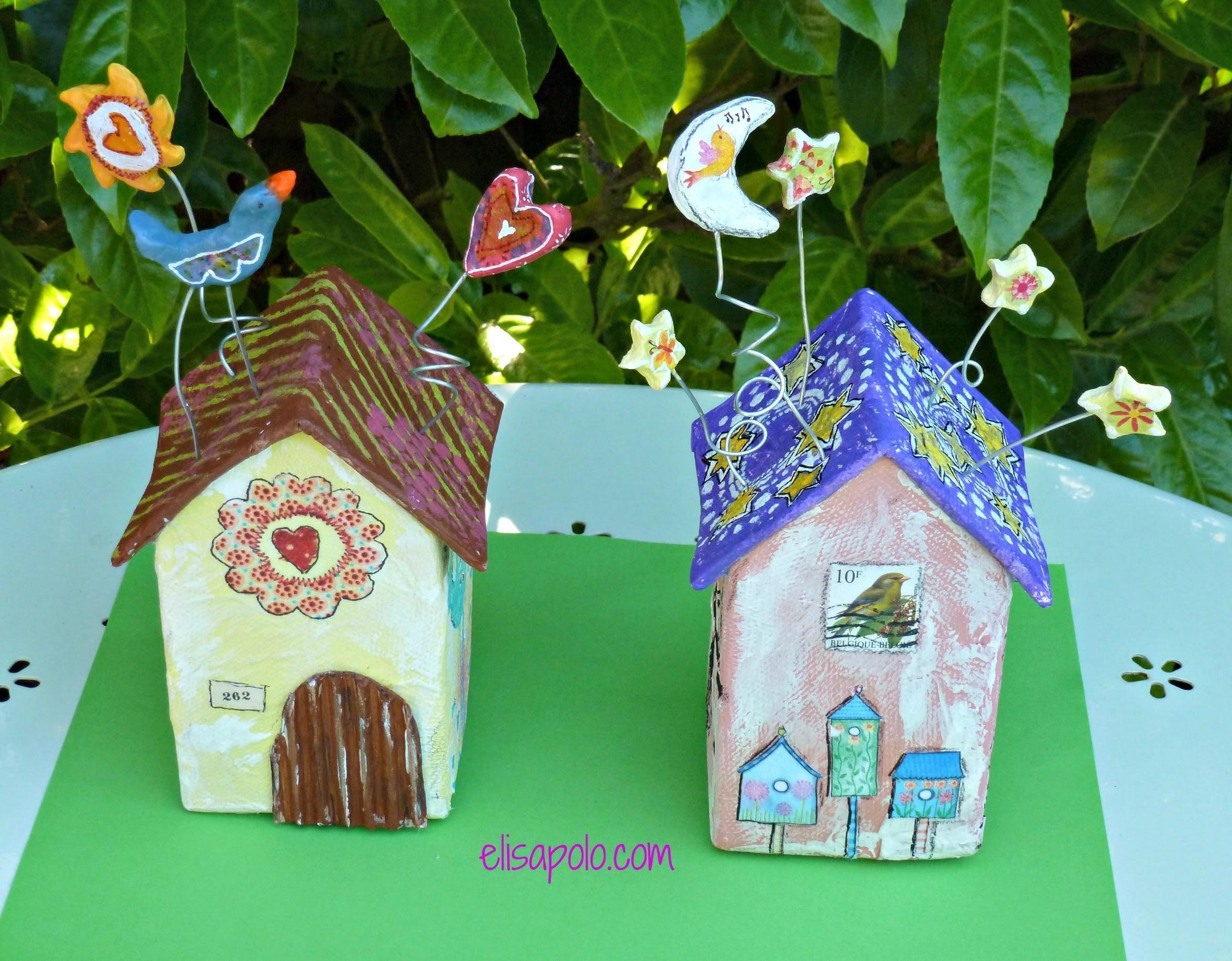 DIY, Birds House Crafts, Casita de Pájaros, Cómo hacer una Casita de Pájaros.