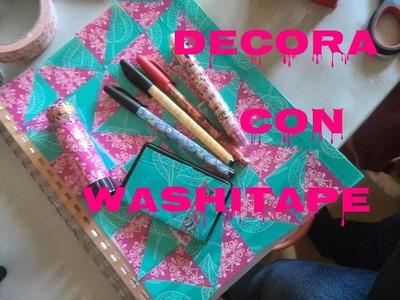 DIY♥DECORA TUS CUADERNOS♥ VUELTA A CLASES ♥ WASHITAPE