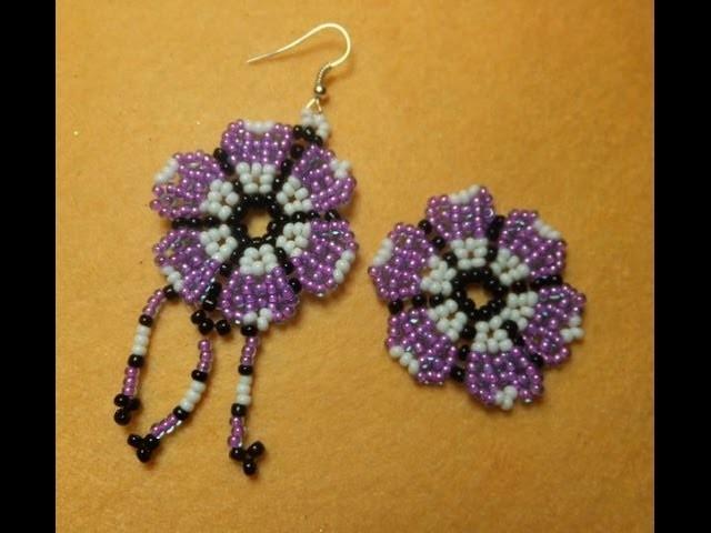 DIY. Flor de bolitas, para pendientes, anillos, pulseras.