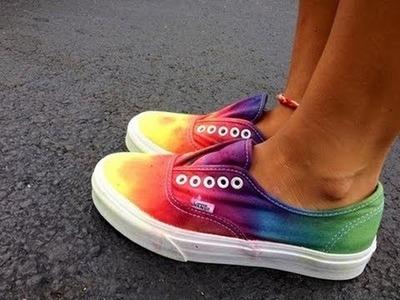 DIY: Tie Dye Vans. Como pintar tus vans multicolor arcoiris