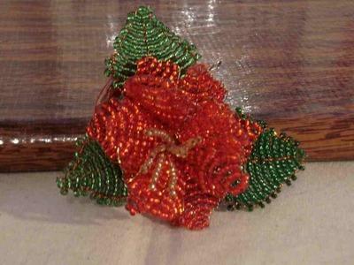 DIY  Tutorial rosa de chaquiras mediana, excelentes para regalar 3 de 4