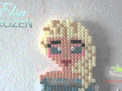 Elsa con Hama Beads.