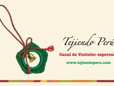 Estrella navideña tejida a crochet (con argolla)