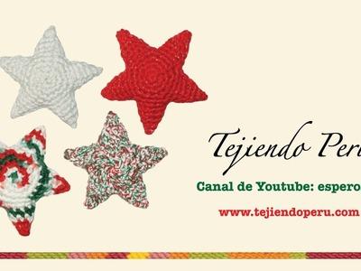 Estrellas de Navidad tejidas a crochet (amigurumi Christmas stars)