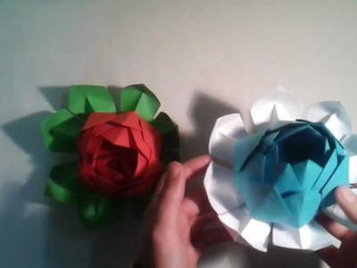 Flor de loto de origami