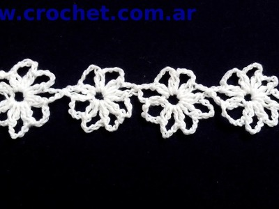 Flor N° 14 en tejido crochet tutorial paso a paso.