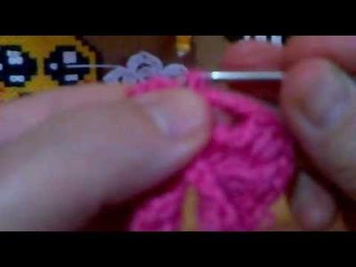 Flor zinia de crochet 1.2