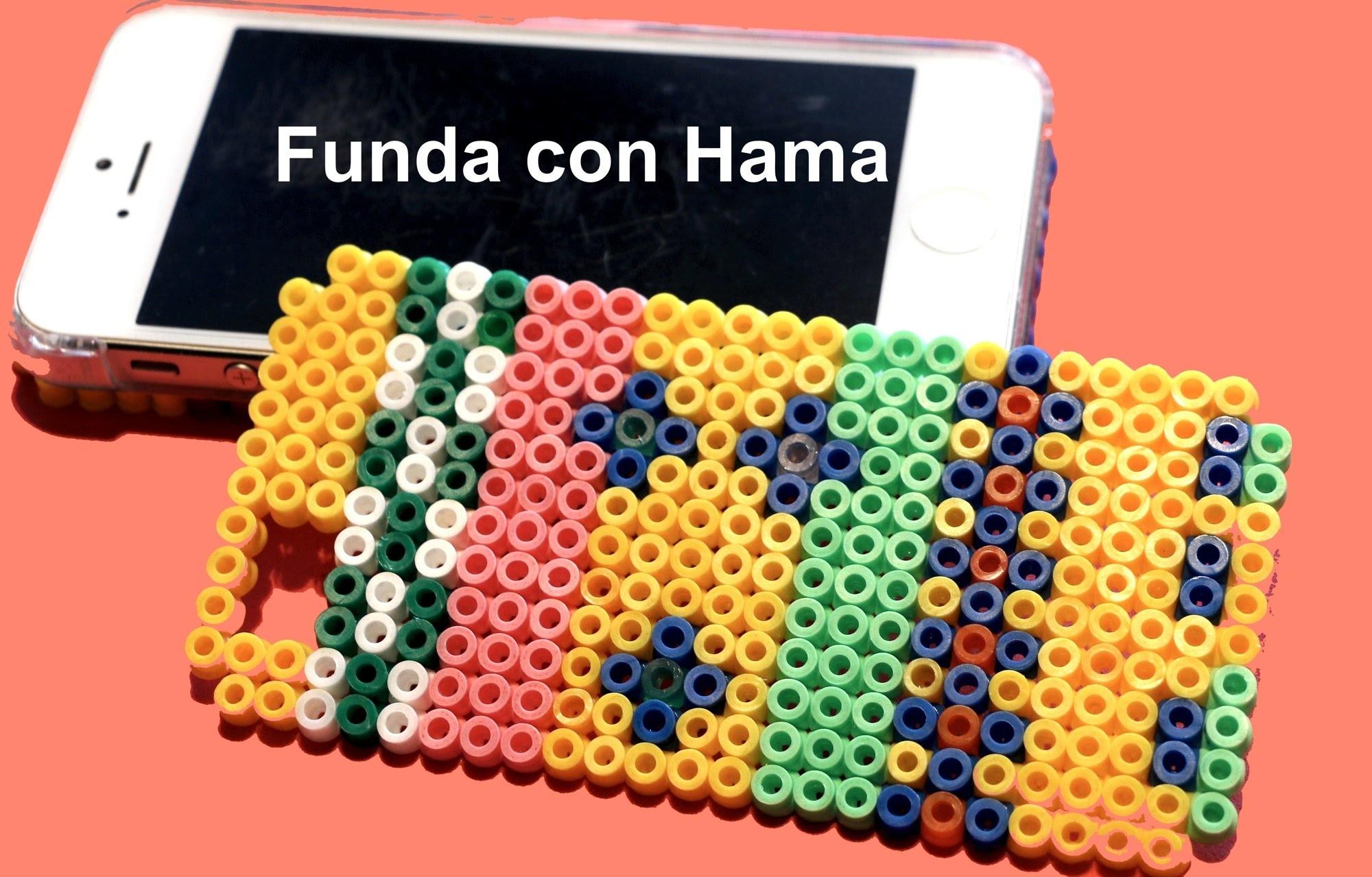 Funda de móvil con Hama. Hama perler beads ideas