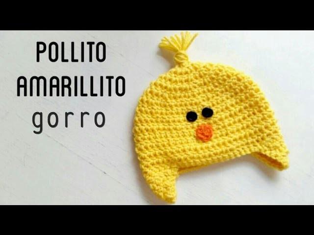 Gorro de Pollito Amarillito a Crochet - Paso a Paso