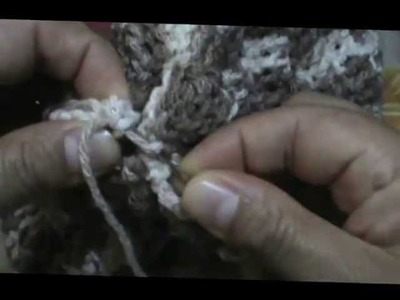 Gorro madera a crochet