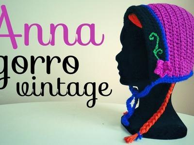 Gorro Vintage Inspirado en Anna (FROZEN) a Crochet - TODAS LAS TALLAS
