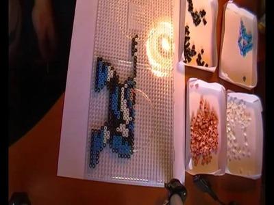 Haciendo un muñeco de megaman con hama beads