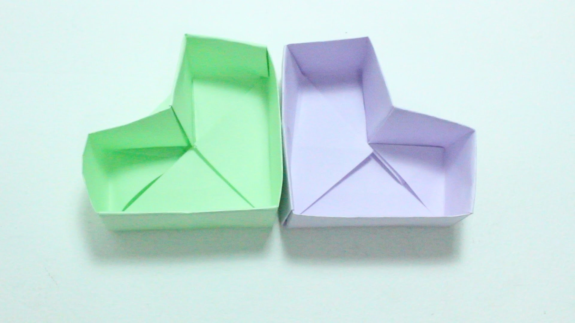Heart box. Caja De Corazón Origami
