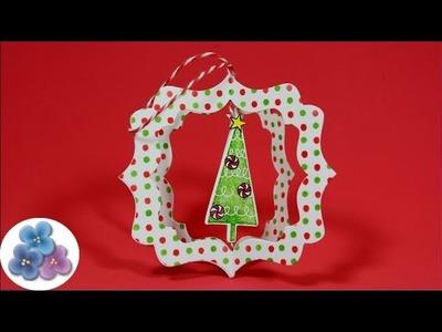 HTM Arbol de Navidad *Christmas Crafts* Manualidades de Navidad Adornos Scrapbook Pintura Facil