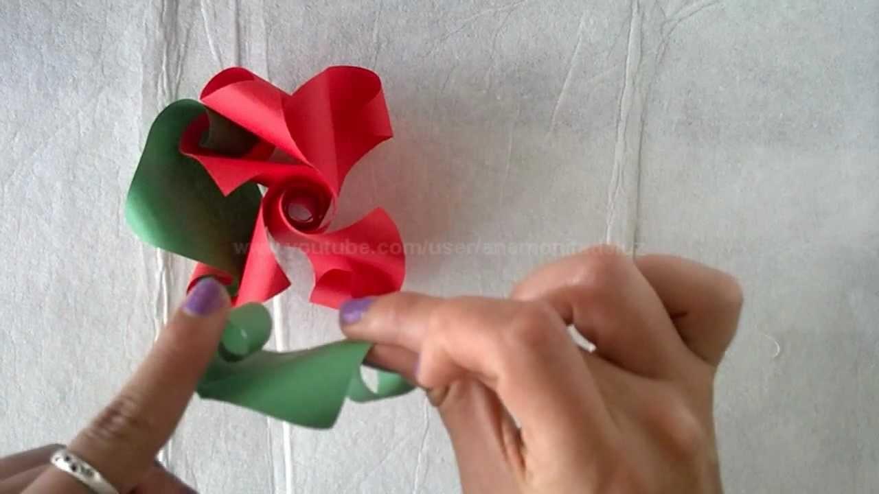 IDEA : ORIGAMI Flor Torcida. Adorno primavera