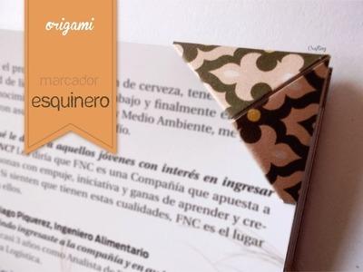 Marcador esquinero - Origami