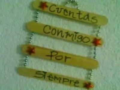 Mensajes de AMOR Y AMISTAD en palitos de madera. DIY IDEAS 14 de Febrero. FÁCIL con WENDILUTIPS!!!!