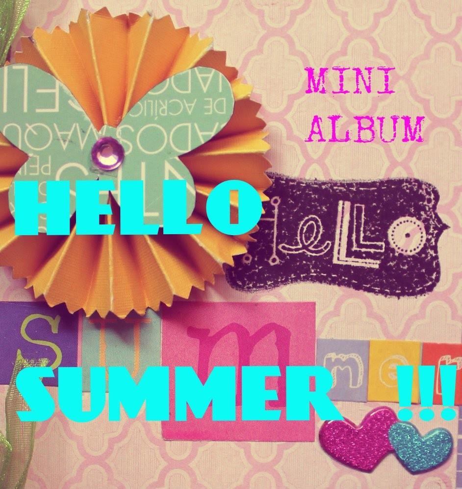 MINI ALBUM SUMMER. Scrapbook