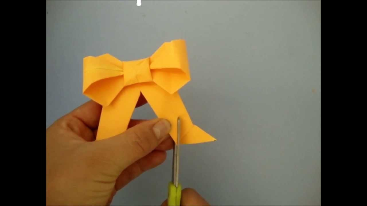 Moño o lazo de origami