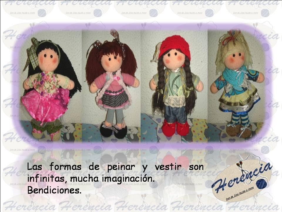 Muñecas tejidas a crochet Amigurumi