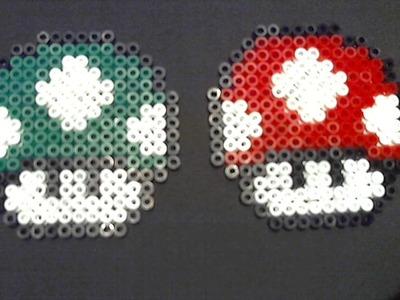 """Nueva sección: Manualidades de Videojuegos #1 """"Seta de Mario Bros"""" con Hama Beads"""