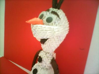 OLAF DE FROZEN EN ORIGAMI 3D